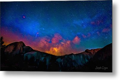 Contemplating The Via Lactea - Pa Metal Print by Leonardo Digenio