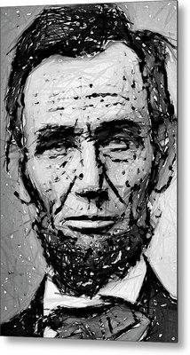 Contemplative Abe Lincoln Metal Print by Daniel Hagerman