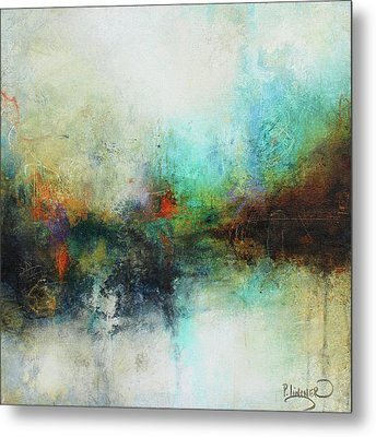 Contemporary Abstract Art Painting Metal Print by Patricia Lintner