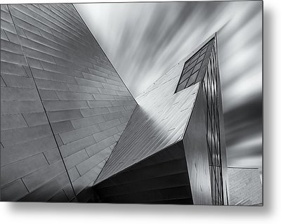 Metal Print featuring the photograph Contemporary Architecture Of The Shops At Crystals, Aria, Las Ve by Adam Romanowicz