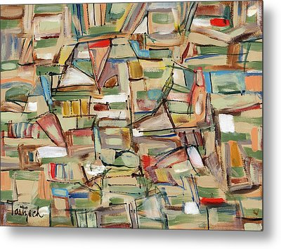 Contemporary Art Forty-eight Metal Print by Lynne Taetzsch