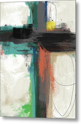 Contemporary Cross 2- Art By Linda Woods Metal Print
