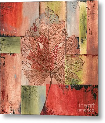 Contemporary Grape Leaf Metal Print