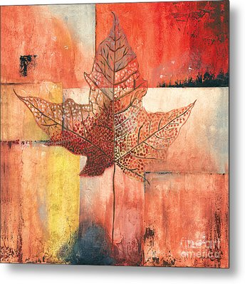Contemporary Leaf 2 Metal Print by Debbie DeWitt