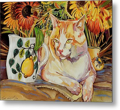 Metal Print featuring the painting Contentment by Bob Coonts