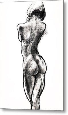 Contra Posta Female Nude Metal Print by Roz McQuillan
