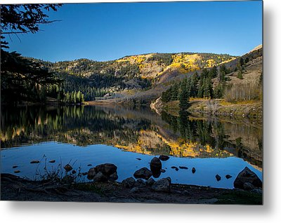 Contract Lake Fall Morning Metal Print by Michael J Bauer