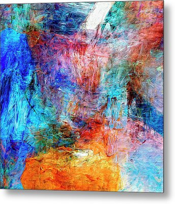 Metal Print featuring the painting Convergence by Dominic Piperata