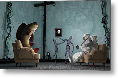 Conversing With Demons At 2 Am Metal Print