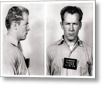 Convict No. 1428 - Whitey Bulger - Alcatraz 1959 Metal Print by Daniel Hagerman