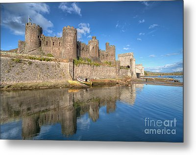 Conwy Castle Metal Print by Adrian Evans