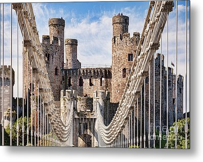 Metal Print featuring the photograph Conwy Castle Wales by Colin and Linda McKie