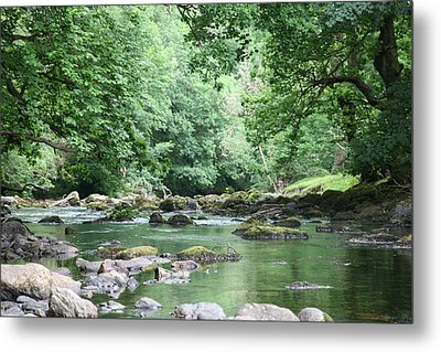 Conwy River Near Betws Y Coed.  Metal Print by Christopher Rowlands