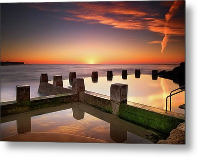 Coogee Beach At Early Morning,sydney Metal Print by Noval Nugraha Photography. All rights reserved.
