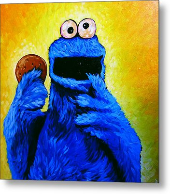 Cookie Monster Metal Print
