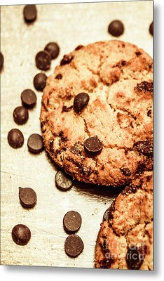 Cookies With Chocolare Chips Metal Print