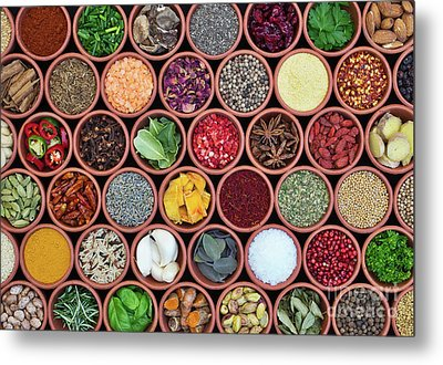Metal Print featuring the photograph Cooking Ingredients by Tim Gainey