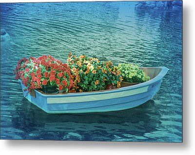 Metal Print featuring the photograph Cool Blue Boat Parade by Aimee L Maher Photography and Art Visit ALMGallerydotcom