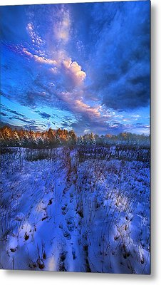 Cool Blue North Metal Print