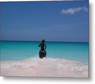 Metal Print featuring the photograph Cool Off Man by Mary-Lee Sanders