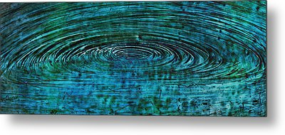 Metal Print featuring the mixed media Cool Spin by Sami Tiainen