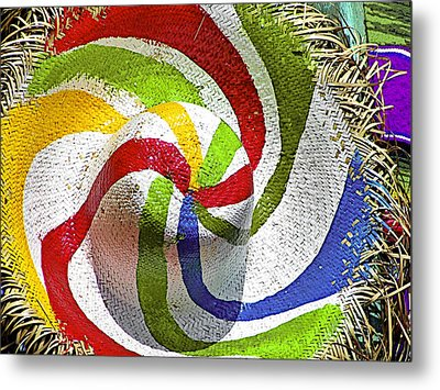 Cool Summer Hat Metal Print by Christine Till