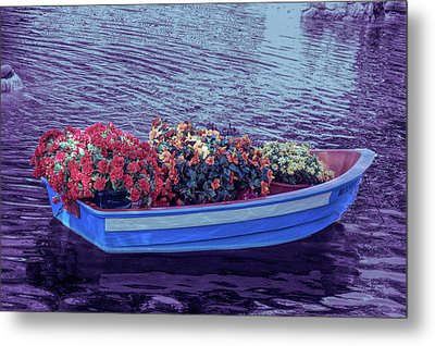 Metal Print featuring the photograph Cool Sunset Boat Parade by Aimee L Maher Photography and Art Visit ALMGallerydotcom