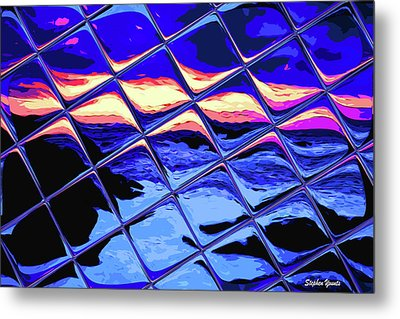Cool Tile Reflection Metal Print by Stephen Younts