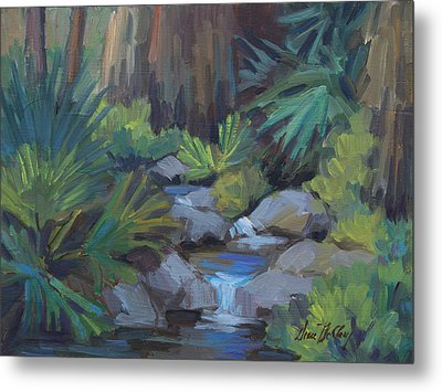 Cool Waters At Andreas Canyon Metal Print by Diane McClary