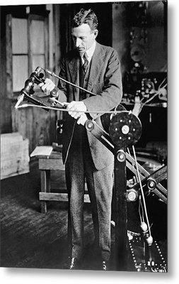 Coolidge X-ray Tube Inventor Metal Print by Underwood Archives