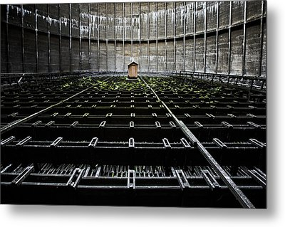 Metal Print featuring the photograph Cooling Tower Water Distribution by Dirk Ercken