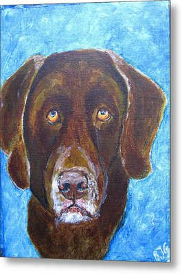 Metal Print featuring the painting Cooper 3 by Barbara Giordano