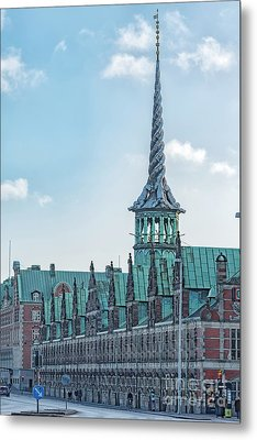 Metal Print featuring the photograph Copenhagen Borsen Stock Exchange Building by Antony McAulay
