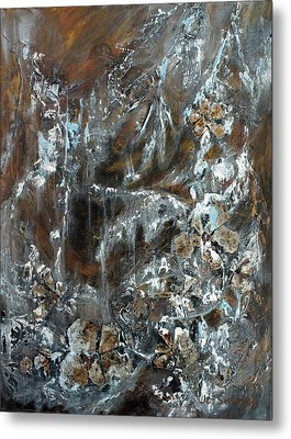 Metal Print featuring the painting Copper And Mica by Joanne Smoley