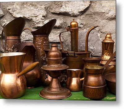 Copper Cookware Metal Print by Rae Tucker