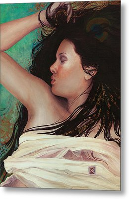 Metal Print featuring the painting Copper Dreamer by Ragen Mendenhall