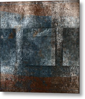 Copper Finish 3 Metal Print by Carol Leigh