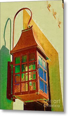 Copper Lantern Metal Print