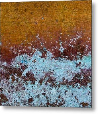 Copper Patina Metal Print by Carol Leigh