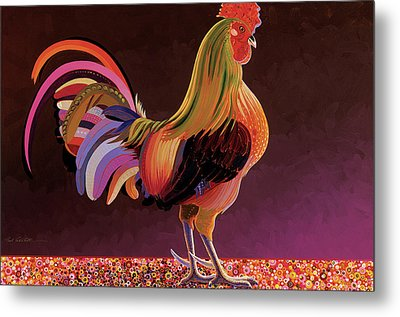 Copper Rooster Metal Print by Bob Coonts