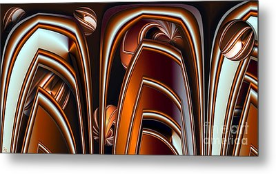 Copper Shields Metal Print