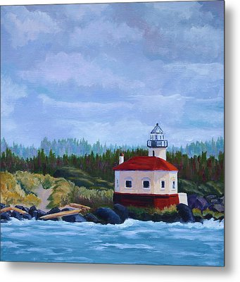Metal Print featuring the painting Coquille Light by Nancy Jolley