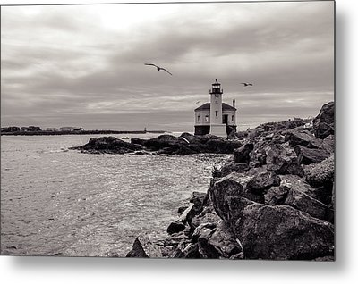 Coquille Lighthouse Oregon  Metal Print