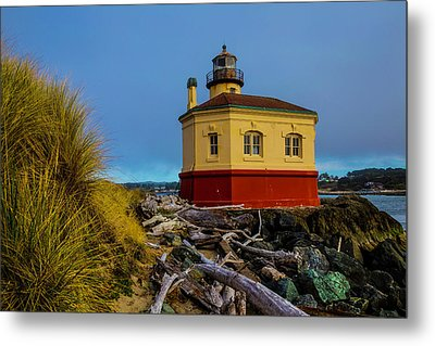 Coquille River 2 Lighthouse Metal Print by Garry Gay