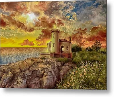 Coquille River Lighthouse 4 Metal Print