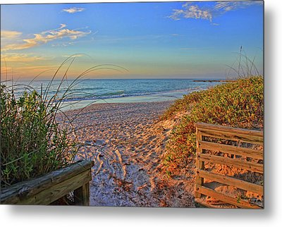 Coquina Beach By H H Photography Of Florida  Metal Print by HH Photography of Florida