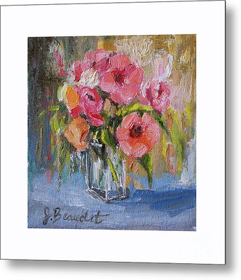 Metal Print featuring the painting Coral Bouquet by Jennifer Beaudet