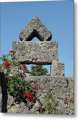 Coral Castle For Love Metal Print by Shirley Heyn