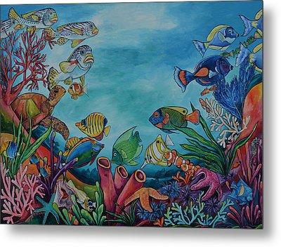 Coral Reef Metal Print by Patti Schermerhorn