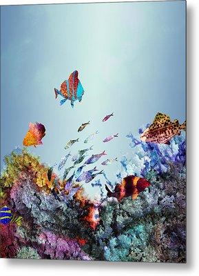 Coral Reef Metal Print by Varpu Kronholm